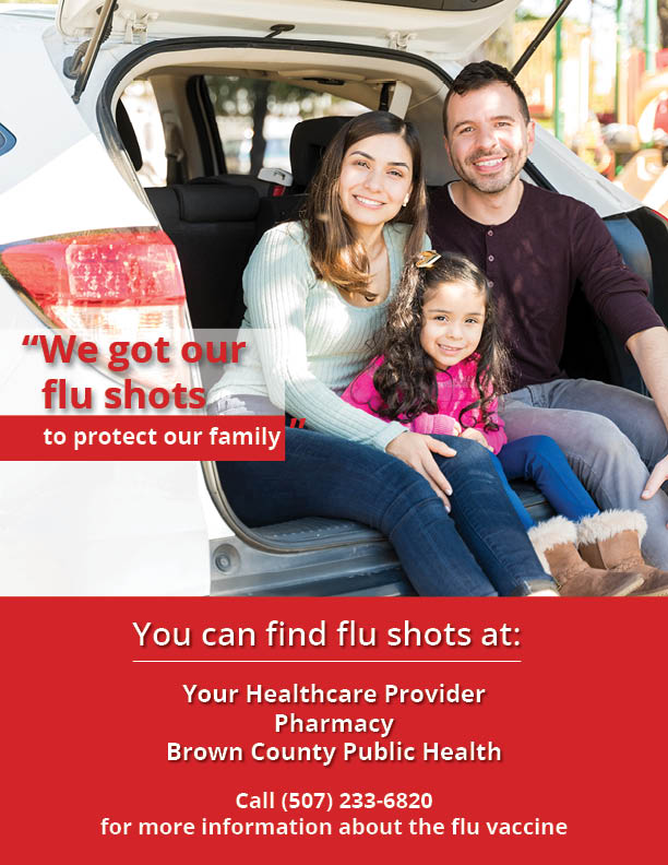 Our Family Flu Shot Flyer New Ulm general